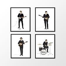 The Beatles 1964 Minimalist Prints