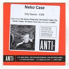 (FY534) Neko Case, City Swans - 2014 DJ CD