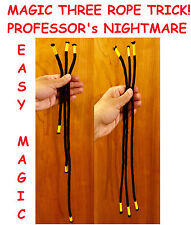 NEW ROPE MAGIC TRICK PROFESSORs NIGHTMARE - 3 ROPE TRICK - CLOSEUP MAGIC TRICK