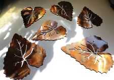 METAL WALL ASPEN LEAVES 6   COPPER/BRONZE PLATED BY HGMW