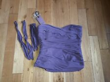 Coast Grape Solo Ruched Strapless Bustier Top size 14 + attachable straps BNWT
