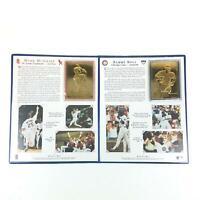 Mark McGwire Sammy Sosa 1998 Danbury Mint 22k Gold Card Set Home Run Record