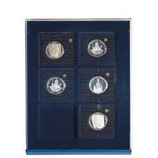 SAFE 6870 NOVA Element exquisite Holz-Münzbox für 6 Münzen mit 70 x 62 mm