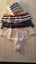 2x3 Slips 6 Unterhosen Panty blau weiß  95% Baumwolle 36/38 40/42 44/46 neu 881