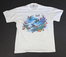 Vintage 90s Vail Hummingbirds T-Shirt Size Adult XL White