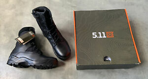 "NEW 5.11 ATAC 8"" Side Zip Tactical Combat Boots Black 12001 Mens Size 9.5"