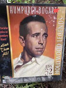 1000 PIECE--WHITE MOUNTAIN--HOLLYWOOD LEGENDS--HUMPHREY BOGART PUZZLE (NEW)