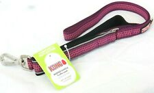 Kong Padded Handle Traffic Leash Pink 4 ft L X 1.0 In W  (1.2 M x 2.5 cm)
