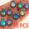Mermaid Fish Scale Pendant 10PCS Resin Metal Charms Jewelry Necklace Accessory