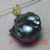 Earbob TwoPin REAL 19-25MM  baroque south sea pearl earrings DIY Mesmerizing