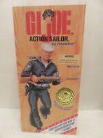 "Hasbro GI Joe Action Sailer WW2 12"" Commemorative Edition 1995 Dark Hair NIB"