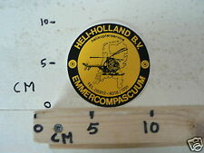 STICKER,DECAL HELI-HOLLAND BV EMMERCOMPASCUM HELIKOPTER