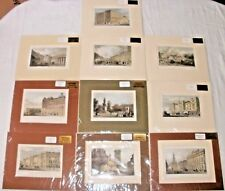 10 X Rare Antique Hand Coloured Engravings Of London Dated 1826 - 1870 Joblot...