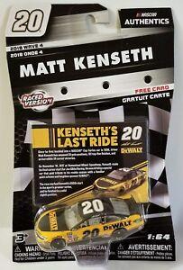 2018 Wave 4 NASCAR Authenics #20 Matt Kenseth 1:64 Scale Last Ride Raced Version