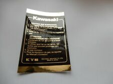 Kawasaki GPZ750UT Turbo GPZ750 1100 u.a. Gabelaufkleber schwarz/gold