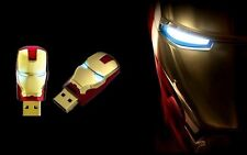 Gold Iron Man Avengers 16GB USB 2.0 flash drive memory stick
