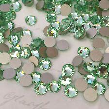 Swarovski X 100 Ss20 Chrysolite Green Glue on Crystals Rhinestones Flatbacks