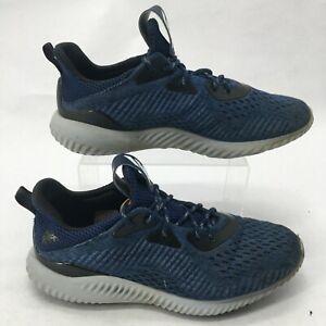 Adidas Mens 8.5 Alphabounce EM Running Sneakers Blue Engineered Mesh BB9040