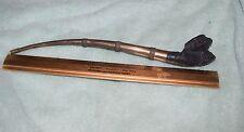 JD-001 - Long Metal Stem and Pottery Estate Tobacco Smoking Pipe Vintage