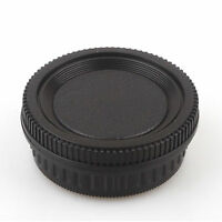 Camera Body Cover + Lens Rear Cover Cap For Pentax PK K20D K10D K200D K100 K7
