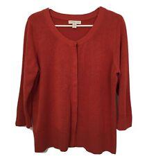 Coldwater Creek Silk Blend Cardigan Sweater Womens L Rust