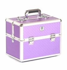 Vanity case Makeup box Cosmetic Beauty Nail Hair Jewellery Storage d lilac