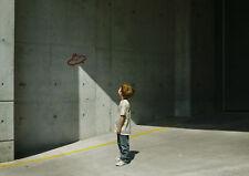 BANKSY - UFO BOY - 30X20 INCH LARGE FRAMED HD CANVAS - UFO KID ARTWORK