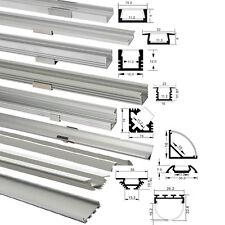 LED Aluprofil 1m 2m für LED Streifen Abdeckung ALU