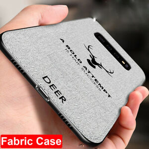 Hybrid Soft TPU Leather Matte Back Cover Case For Samsung Galaxy S10Plus S10e S9