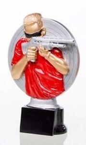 Gewehr Schützen-Pokal (Resin-Figur) mit Wunschgravur (39225)