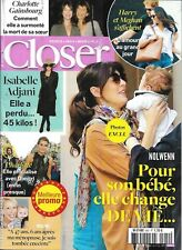 CLOSER n°642 29/09/2017  N. Leroy/ Gainsbourg/ Harry & Meghan/ Casiraghi/ Adjani