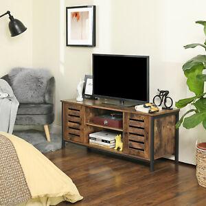 VASAGLE TV-Schrank Fernsehtisch Lowboard mit 2 Schränken + 2 Regalebenen LTV43BX