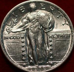 Uncirculated 1919 Philadelphia Mint Silver Standing Liberty Quarter