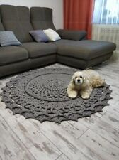 "Round handmade carpet ""Dreamcatcher"""
