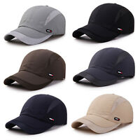 Men Plain Mesh Baseball Ball Dad Hat Adjustable Plain Solid Breathable Golf Caps