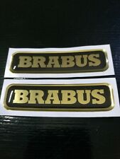 coppia adesivi brabus smart oro cromo-nero in resina 3d new