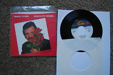 "Ringo Starr - 7"" Single - Wrack my brain - 1981 - sleeve and record"