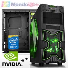 PC Computer GAMING Intel i7 7700 3,60 Ghz - Ram 16 GB DDR4 - HD 2 TB - GTX 1050