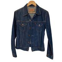 Vintage LEVIS Trucker Jacket 70590 0401 Jeans Denim Women Size small 6-8