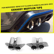 Rear Muffler Exhaust Tips End Pipes Fit for Mercedes Benz C117 CLA250 CLA45 AMG
