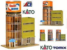 KATO by TOMIX PALACIO en la TORRE CILÍNDRICA con VIDRIERAS OFICINAS y tiendas