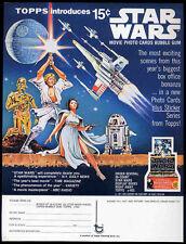 STAR WARS REPRO 1977 TOPPS BUBBLE GUM TRADING CARD RETAILER ORDER SHEET .NOT DVD