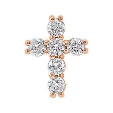 Cruz Diamante 45.7cm Collar en 14k oro rosa ( 1/3ct. TW