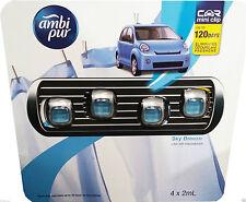 Ambi Pur Car Air Mini Clip Freshener Sky Breeze - 4 x 2mL