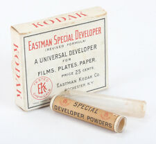 KODAK EASTMAN SPECIAL DEVELOPER BOX ONLY, WITH TWO OPEN GLASS TUBES/cks/197985