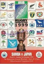 Samoa / Japón 1999 Rugby World Cup programa Rwc