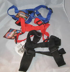 "DOG Harness Small Blue Black Adjustable 12"" - 2"" Nylon 1/2"" NEW"