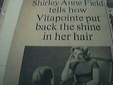 magazine item 1961 - advert shirley anne field vitapointe