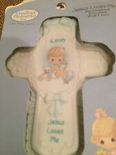 New Precious Moments Jesus Loves Me Personalized Porcelain Wall Cross Kevin