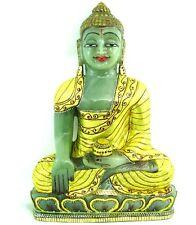 Big Natural Green Aventurine Quartz Gemstone Carved Lord Buddha Art Sculpture